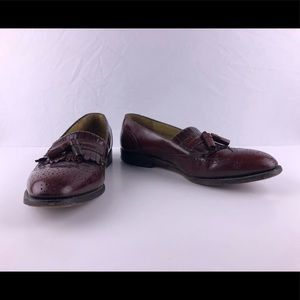 JOHNSTON & MURPHY wine leather loafers size 9.5
